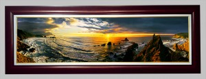 Cannon Beach with a cherry frame